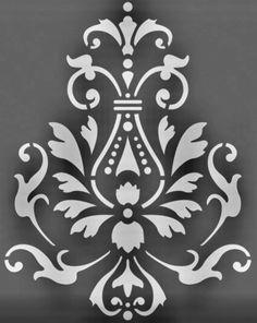 Damask Stencil, Stencil Art, Stencil Designs, Paint Designs, Bar Design, Design Studio, Glass Etching Stencils, Phone Wallpaper Design, Plaster Art