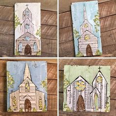 Vintage Hymnal Page Churches for sale in my Etsy shop! Link in profile to shop. #vintagemusic #hymns #hymnalpages #oldhymns #churchpainting #churchart #church #praises #worship #haleybdesigns #haleybushart #etsy #mississippiartist #southernartist #etsyfinds