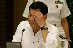 President Rodrigo Duterte looks at a computer monitor as he arrives for the Armed Forces of the Philippines and Philippine National Police joint command conference at the Malacañan Palace in Manila, Philippines on Monday, Feb. 27, 2017. AP/Aaron Favila