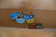 Kinsey Design and Fabrication - Des Moines, Iowa. Artistic flair metal art. Love these license plate bracelets! Sold at Green Goods for the Home in Des Moines.