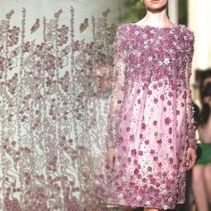 French Lace, Lace Fabric, Sequin Skirt, Sequins, Textiles, Embroidery, Skirts, Fashion, Moda
