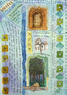 Frances Pickering is a textile artist and teacher who specialises in unique handmade books and journals Handmade Journals, Handmade Books, Nature Journal, Art Journal Pages, Fabric Journals, Fabric Books, Art Journals, Textiles Sketchbook, Collage