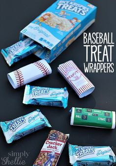 Looking for FREE baseball printables? These cute baseball themed treat wrappers are perfect for baseball birthday parties, post-game snacks or end of season celebrations.
