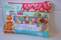 This cute zippered pouch is made from fabric scraps and is a great project to start with if you're learning how to attach zippers. Grab your fabric scraps