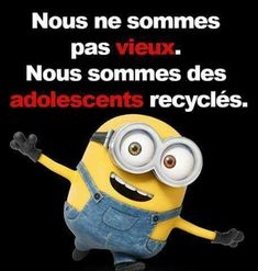 minions - Apocalypse Now And Then Positive Attitude, Positive Quotes, Minion Humour, Funny Minion, Citation Minion, French Phrases, Minions Quotes, Despicable Me, Thoughts