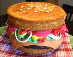 Hamburger Birthday Cake tutorial