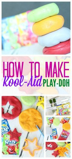 How to Make Kool-Aid Play-doh! Kid Friendly Summertime Recipe! Craft and Activity Idea for Kids!