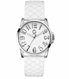 G by GUESS Patent Quilted Strap Watch G by GUESS. $59.50. Water resistant. White. Quilted. Patent leather. Women's watches