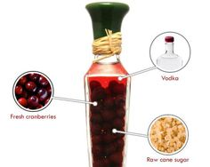 #Cranberry-Infused Vodka: Infusing #vodka with cranberries is sure to impress your holiday guests. #recipe
