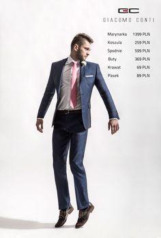 Stylizacja Giacomo Conti: Marynarka MARCO 2 15/17 M2B, Spodnie MARCO 15/17 SB, Koszula RICCARDO 15/05/34-K, Buty G6942.