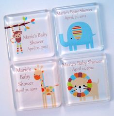 Baby Shower Favors Magnets Zoo Animals by StuckTogetherMagnets