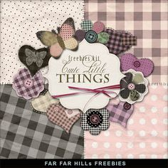 Far Far Hill - Free database of digital illustrations and papers: Freebies Kit - Сute Little Things