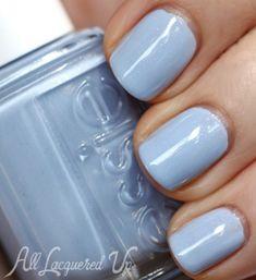 Essie -Rock The Boat (Summer 2013). Lavender sky-blue with subtle silver shimmer.