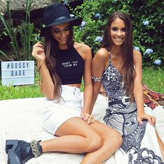 """""""BOSSY BABES! Shop the exclusive 'BOSSY THE LABEL' range via peppermayo.com.au Buy any two items and get the third free!! Promo ends…"""""""