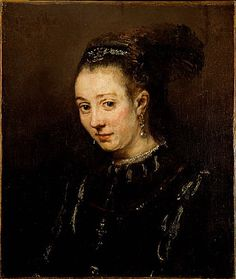 Portrait of a Young Woman - Rembrandt - Completion Date: 1655