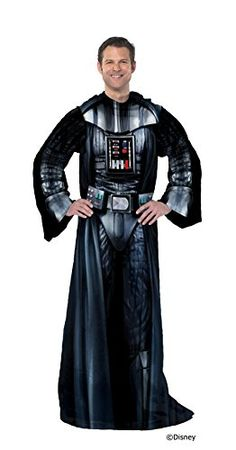 Disney Lucas Films Star Wars Being Darth Vader Adult Comfy Throw with Sleeves 48 by 71 * Learn more by visiting the image link-affiliate link.