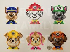 Billedresultat for paw patrol perler beads You are in the right place about Beading christmas Here we offer you the most beautiful pictures about the Beading fashion you are looking for. Melty Bead Patterns, Bead Embroidery Patterns, Pearler Bead Patterns, Bead Loom Patterns, Perler Patterns, Beaded Embroidery, Beading Patterns, Jewelry Patterns, Knitting Patterns