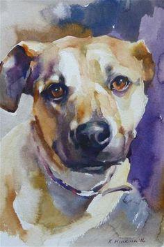 Daily Paintworks - - Original Fine Art for Sale - © Katya Minkina Animal Sketches, Animal Drawings, Art Drawings, Art Watercolor, Watercolor Animals, Dog Portraits, Fine Art, Animal Paintings, Dog Art