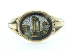 A Wonderful Micromosaic Ring Circa 1800's