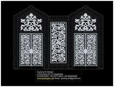Ornamen Dayak Masjid Al Akbar Islamic Center Paringin - Balangan  Kalimantan Selatan