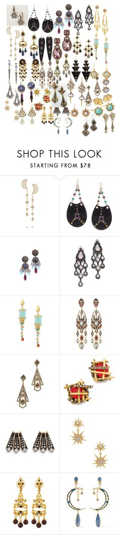 """Mary Stuart Earrings (2)"" by taught-to-fly19 ❤ liked on Polyvore featuring Anthropologie, Arme De L'Amour, Ashley Pittman, Erickson Beamon, Ben-Amun, Jose & Maria Barrera, Heidi Daus, Stephanie Kantis, Azaara and Elizabeth Cole"