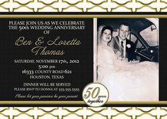 personalized 40th anniversary invitations