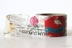 Wide Paris Rose Washi Tape - Floral - Washi Tape (Other)