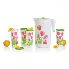 Tulips Beverage Set: Liven up your water! Add a different fruit selection every day to your pitcher insert. Hurry before the sale is over Version Francaise, Different Fruits, Fast Easy Meals, Gal 3, Artwork Prints, Tulips, Beverages, Tableware, Kitchen Products