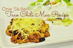 Quick and Easy, One Skillet Taco Chili Mac Recipe