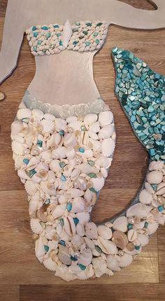 Mermaid Shell, Mermaid Room, Mermaid Beach, Mermaid Art, Mermaid Waves, Mermaid Bathroom, Seashell Art, Seashell Crafts, Beach Crafts