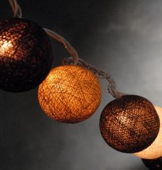 rustic burlap ball lights! something different yet still classy