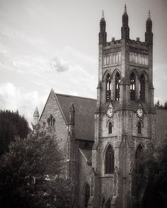 Saint Georges Anglian Church in Montreal taken out of the city and back in time.  #clementfineart #montreal #church #my_365 #blackandwhite #architecturecanada #igmontreal