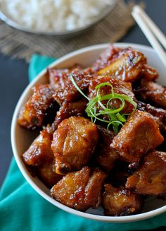 Sweet and Sour Rib Tips are take out at home made easy. The sweet and sour sauce makes these Rib Tips delicious. Rib Recipes, Asian Recipes, Cooking Recipes, Healthy Recipes, Cooking Ribs, Asian Cooking, Keto Recipes, Recipies, Pork Riblets