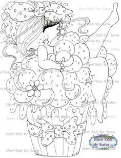 INSTANT DOWMLOAD Digital Digi Stamps Big Eye Big Head Dolls Digi Img071 New…