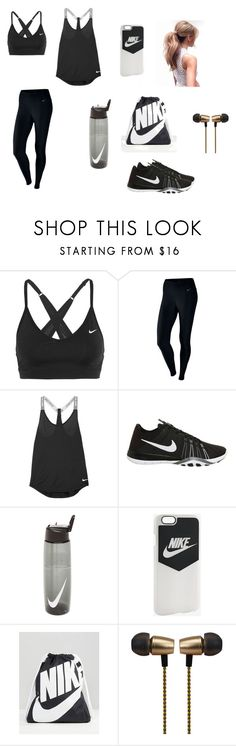 """Nike Workout"" by jjlove13 ❤ liked on Polyvore featuring NIKE, Cynthia Rowley, workout, nike and gym"