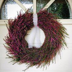 Dörrkrans av ljung #dörrkrans #krans #ljung #doorwreath #wreth #heather #sensommar #lila #purple #homemade