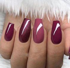 Nail Design Glitter, Nail Design Spring, Winter Nail Designs, Stylish Nails, Trendy Nails, Cute Nails, Nail Manicure, Gel Nails, Acrylic Nails
