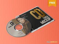 Free CD Jewel Case & Label Sticker Mockup