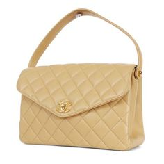 Chanel Vintage Classic 2.55 Nude Tan Tote in Beige