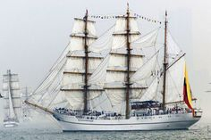 The Guayas is a 257-foot long tall ship from Ecuador. It trains cadets from the Ecuadorian Naval Superior School at Guayaquil and will be just one of 40 tall ships and naval vessels in Baltimore, June 13-19, 2012 for the Star-Spangled Sailabration.