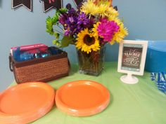 Teacher sign- utensils and plates