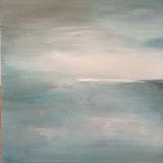 Lunar Drift 16 by 16 painting by Heather Ross SOLD