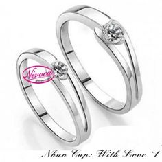 Nhẫn Cặp With Love 1 - Rings couple With Love 1