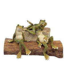 Cracks me up ;-) Take a look at this Sitting Shelf Frog - Set of Three by Melrose on #zulily today!