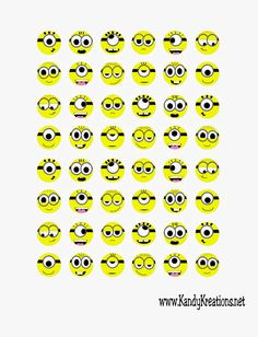 Minion Hershey Kisses labels-- http://www.kandykreations.net/2014/11/despicable-me-minion-kiss-sticker.html