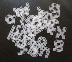 plastic canvas letter pattern