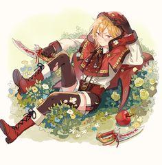 My little Nazunyan Cool Anime Pictures, Chibi, Dark Anime Guys, Star Illustration, Cute Anime Boy, Ensemble Stars, Fan Art, Character Design Inspiration, Red Riding Hood