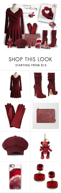 Red Winter by @savousepate on @polyvore #red #burgundy #maroon #winter #women #woman
