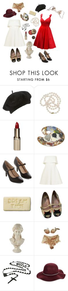 """""""Take Me To Paris/Let's Go There And Never Look Back"""" by child-of-jove ❤ liked on Polyvore featuring John Lewis, DaVonna, L'Oréal Paris, Elizabeth and James, Bourjois, Miu Miu, Pankhurst, Universal Lighting and Decor, La Perla and San Diego Hat Co."""