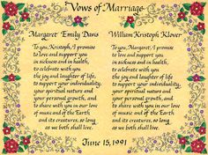 Quaker Wedding Certificate Trees